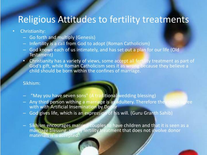 Religious Attitudes to fertility treatments
