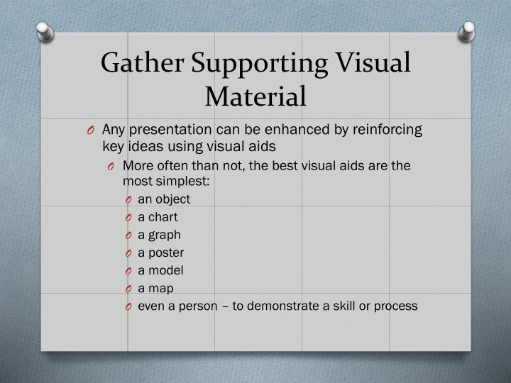Gather Supporting Visual Material