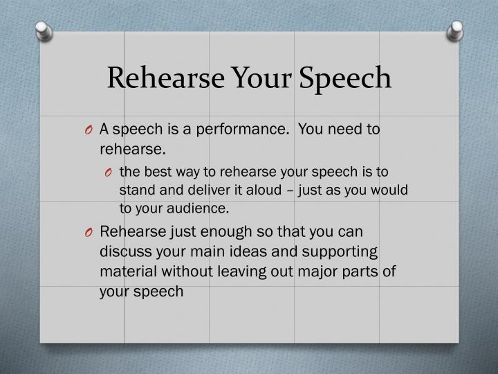 Rehearse Your Speech