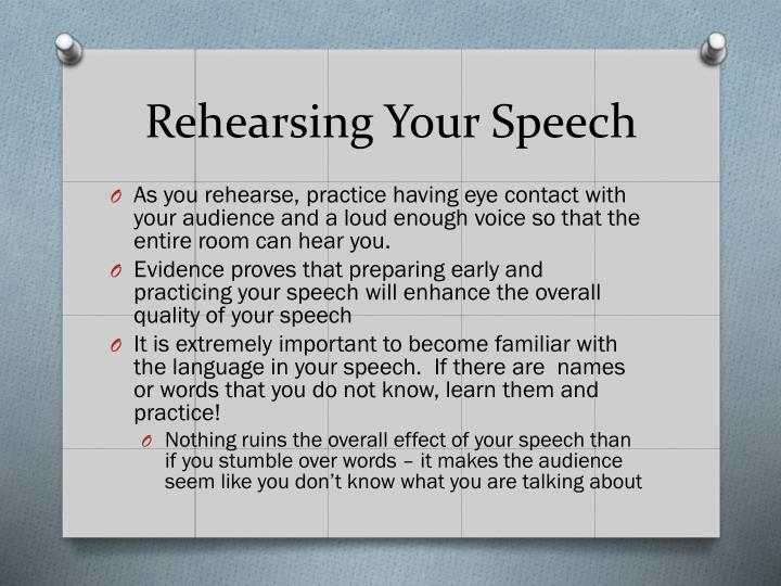 Rehearsing Your Speech