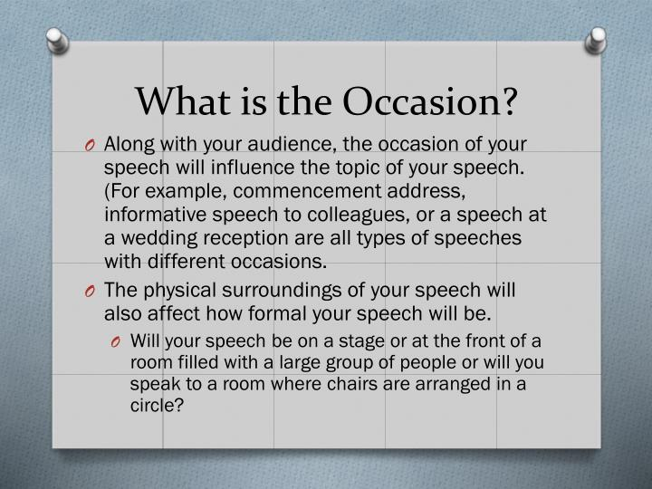 What is the Occasion?