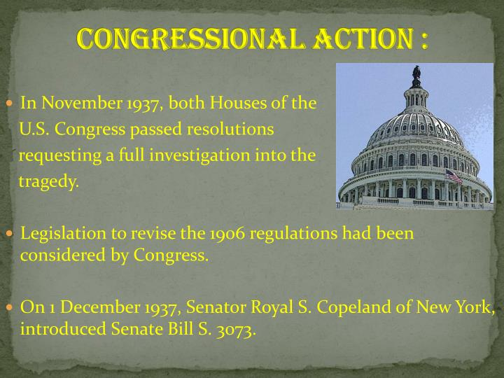 Congressional Action :