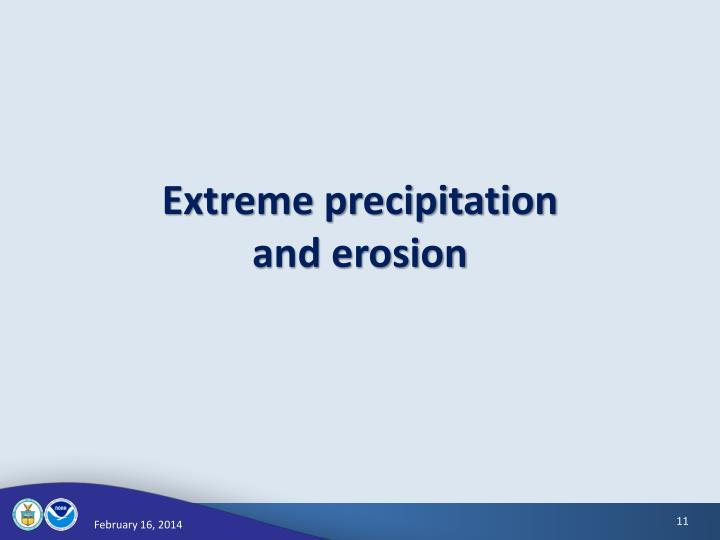Extreme precipitation