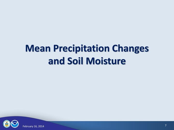 Mean Precipitation Changes