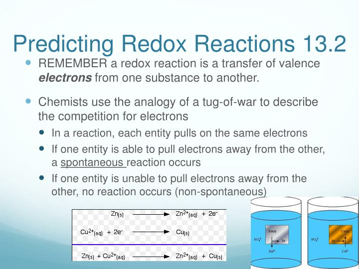 Predicting redox reactions 13 2