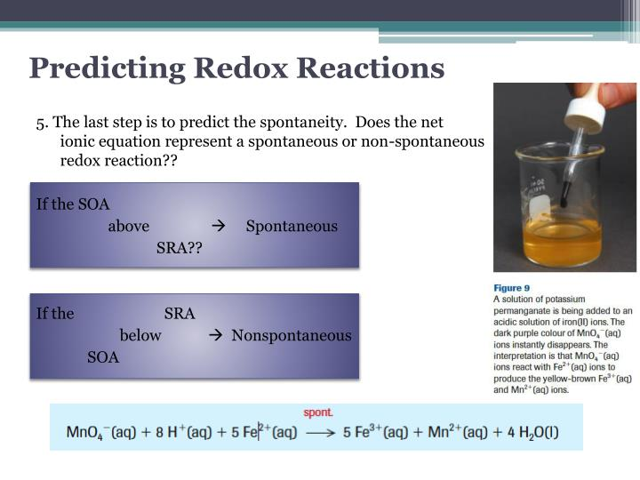 Predicting Redox Reactions