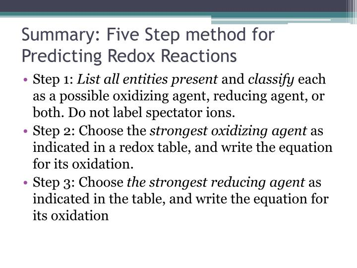 Summary: Five Step method for Predicting
