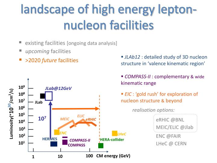 landscape of high energy lepton-nucleon facilities