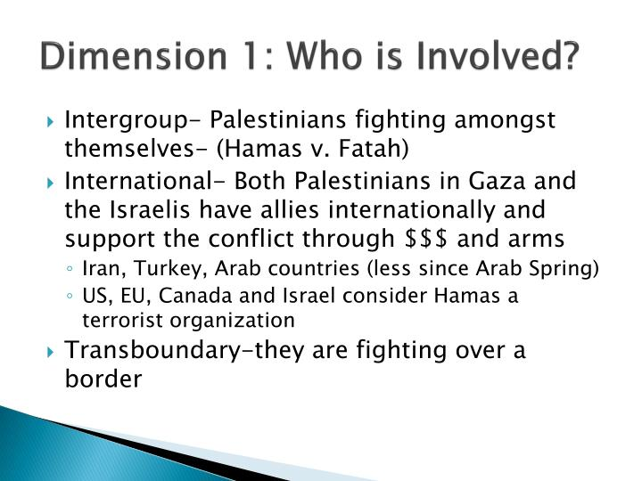Dimension 1: Who is Involved?