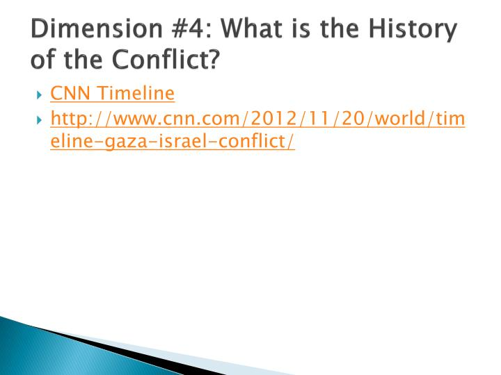 Dimension #4: What is the History of the Conflict?
