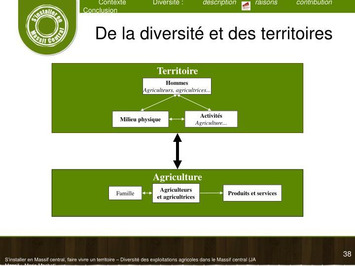 De la diversité et des territoires