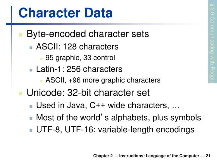 Character Data