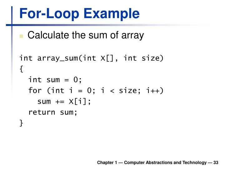 For-Loop Example