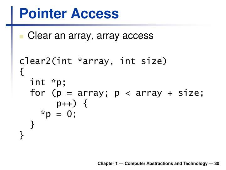 Pointer Access
