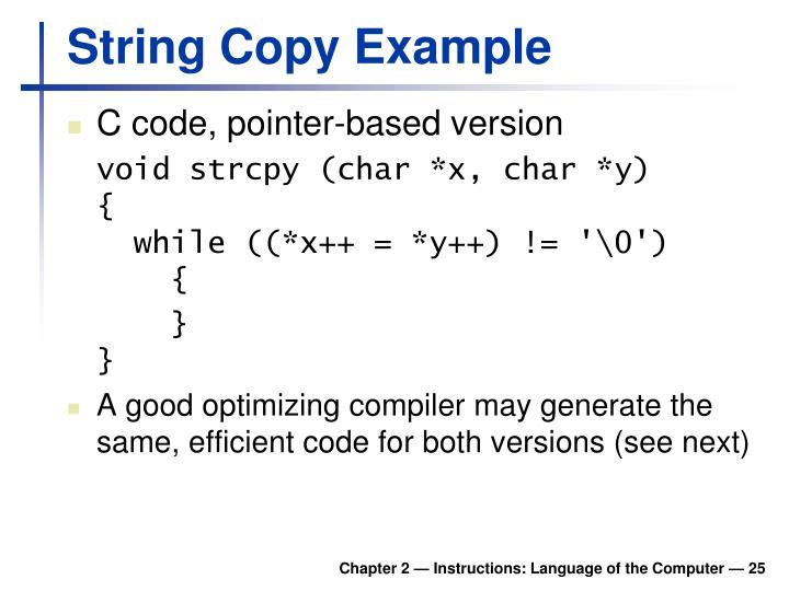 String Copy Example