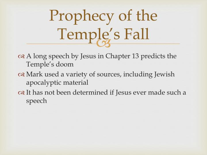 Prophecy of the Temple's Fall