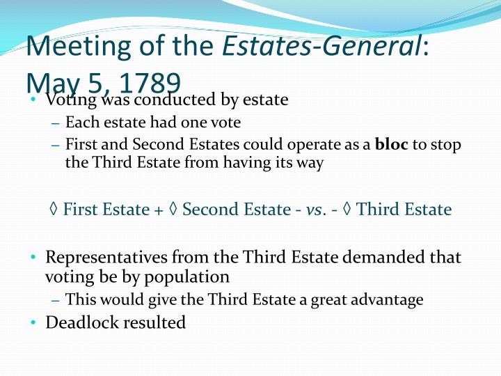 meeting of the estates general 178 The storming of the bastille occurred _____ before the meeting of the estates general after the reign of terror after the directory was established after - 3370244.