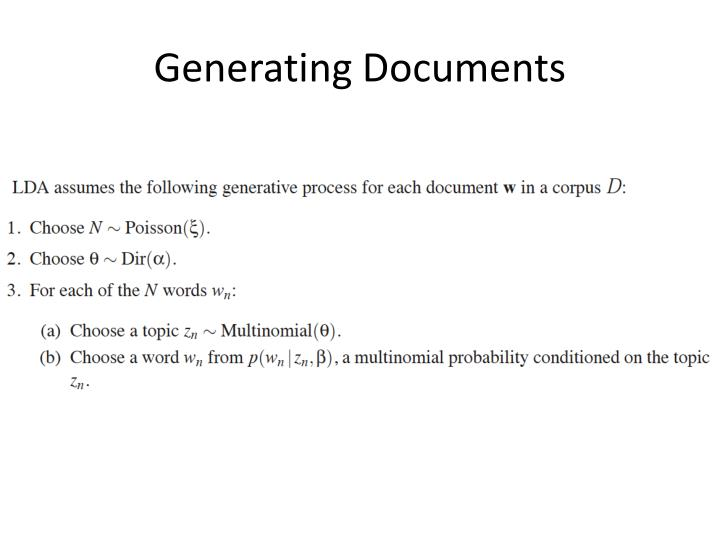 Generating Documents
