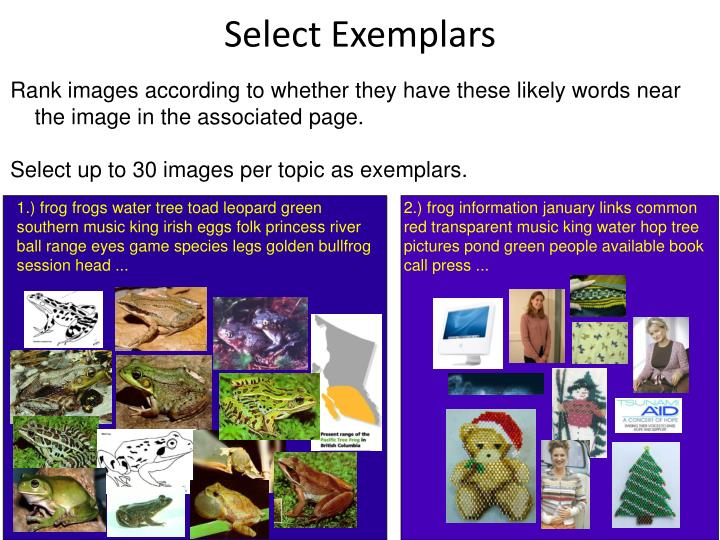 Select Exemplars