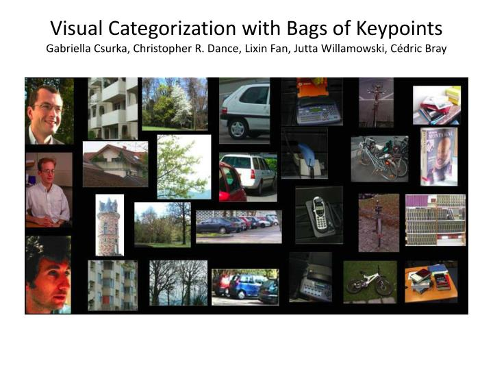 Visual Categorization with Bags of