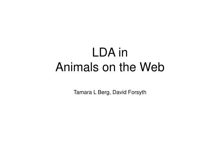 LDA in
