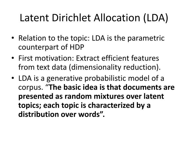 Latent dirichlet allocation lda