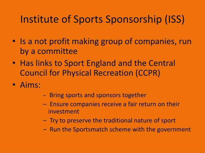 Institute of Sports Sponsorship (ISS)