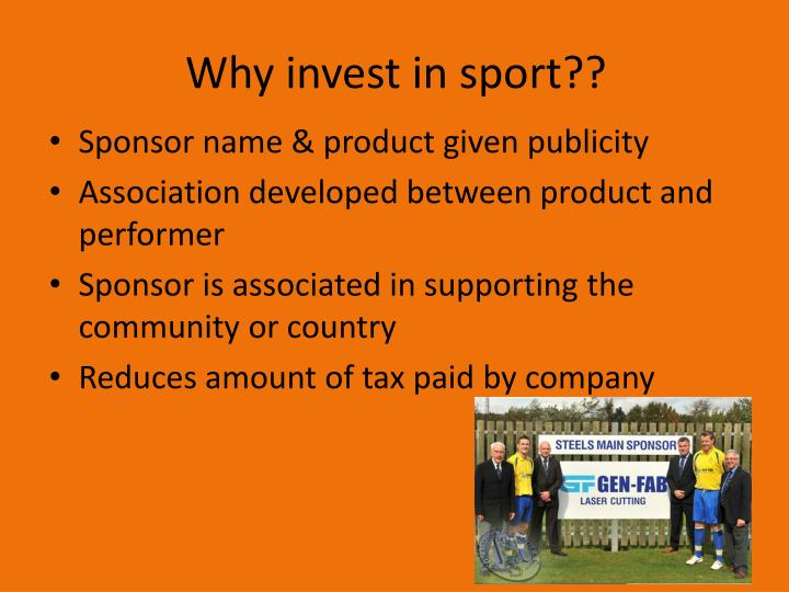 Why invest in sport??