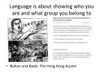 language is about showing who you are and what group you belong to