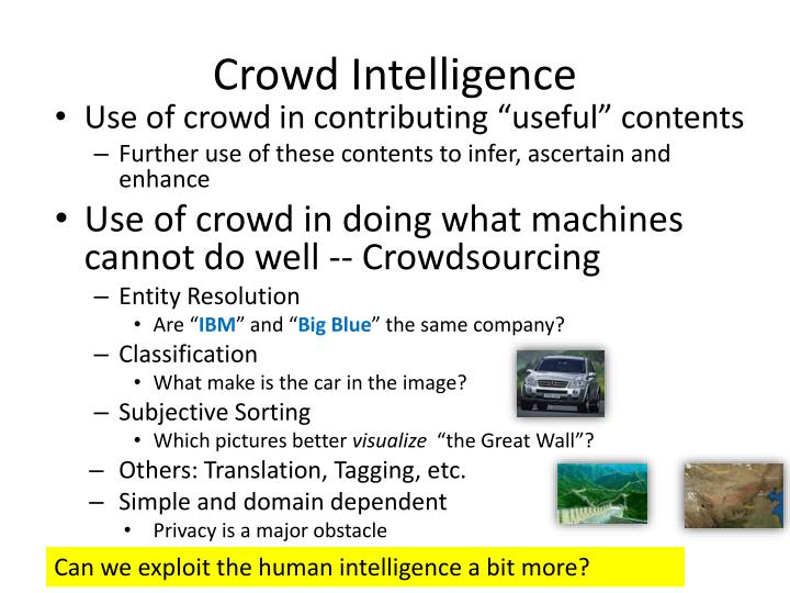 Crowd Intelligence