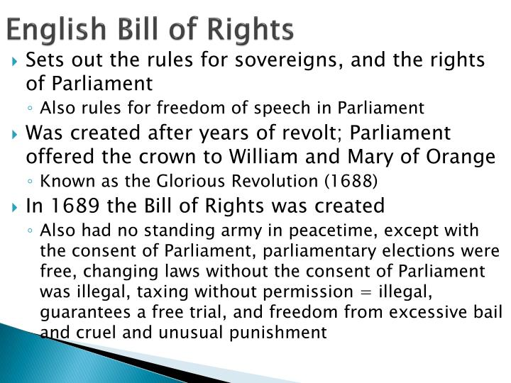 English Bill of Rights