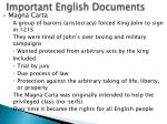 important english documents