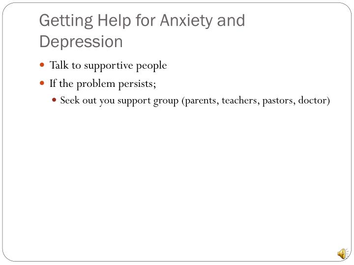 Getting Help for Anxiety and Depression