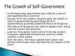 the growth of self government