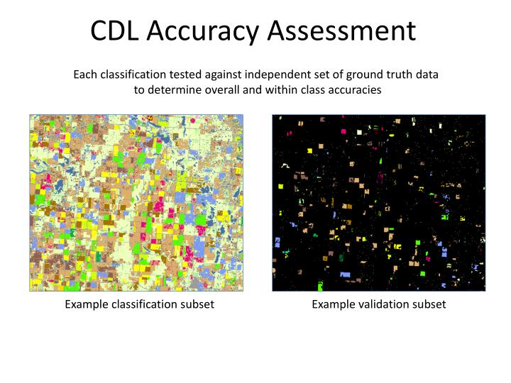 CDL Accuracy Assessment