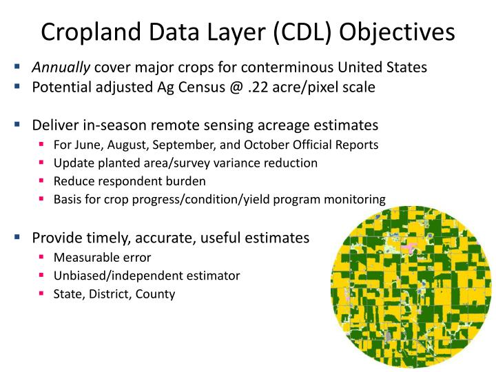 Cropland Data Layer (CDL) Objectives