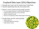 cropland data layer cdl objectives