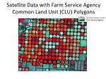 satellite data with farm service agency common land unit clu polygons