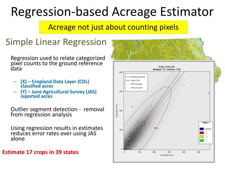 Regression-based Acreage Estimator