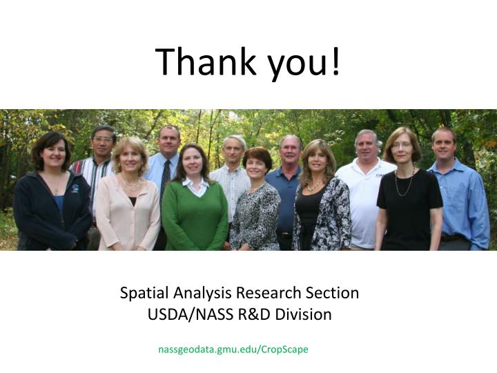 Spatial Analysis Research Section