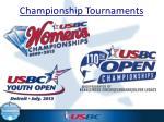 championship tournaments