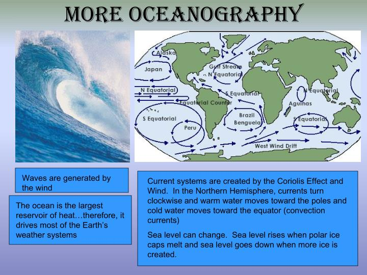 More oceanography