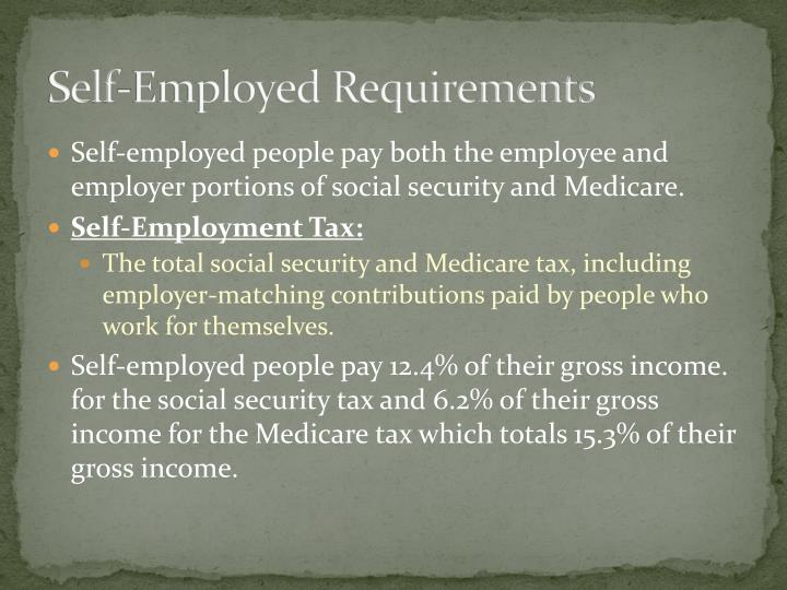 Self-Employed Requirements