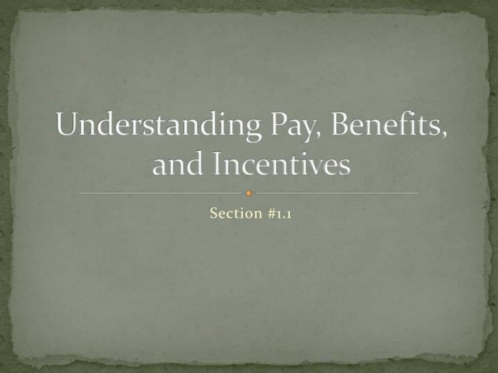 Understanding pay benefits and incentives