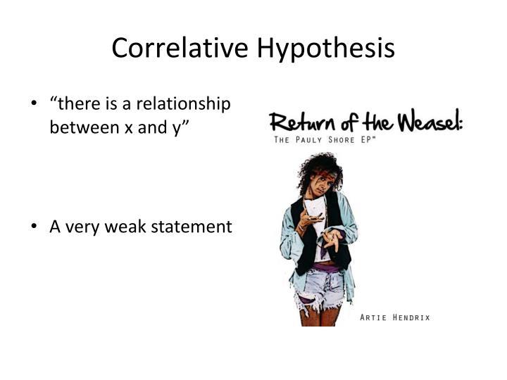 Correlative Hypothesis