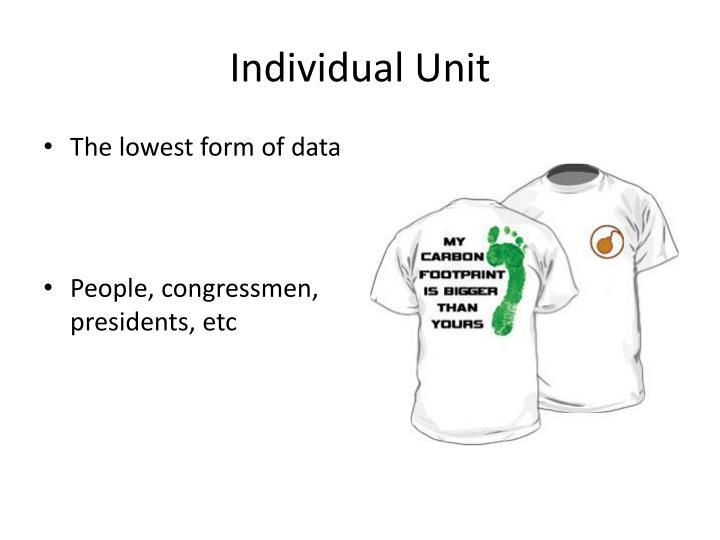 Individual Unit
