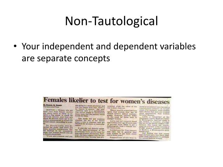 Non-Tautological