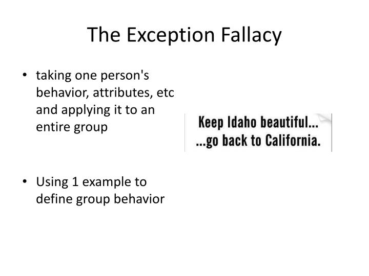 The Exception Fallacy