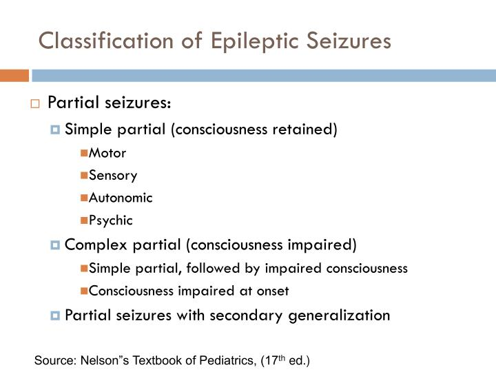 Classification of Epileptic Seizures