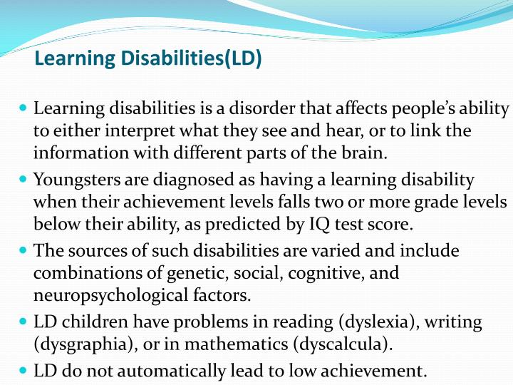 Learning Disabilities(LD)